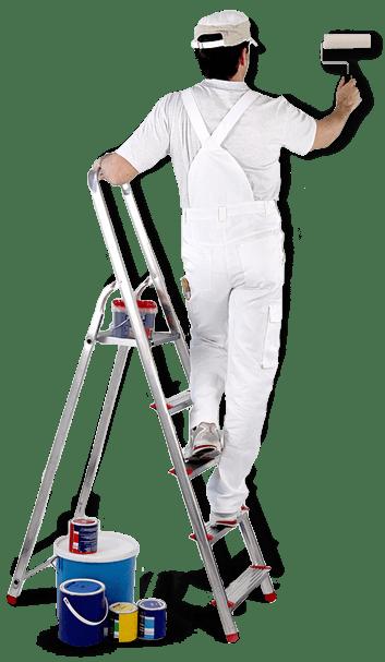muur sauzen wit schilder